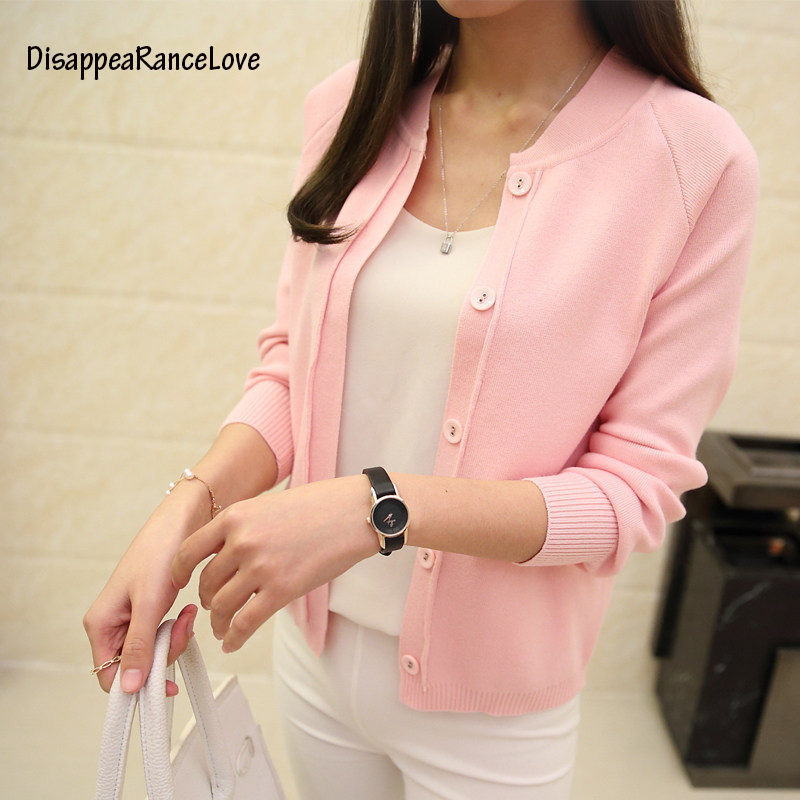 DisappeaRanceLove Brand new Sweater Women Cardigan Knitted Sweater Coat Long Sleeve Crochet Female Casual Woman Cardigans Tops