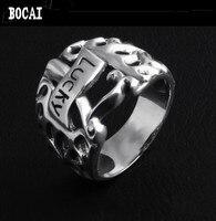 925 серебряные личность пламя узор Лаки ручка тайский серебряное кольцо Для мужчин и Для женщин