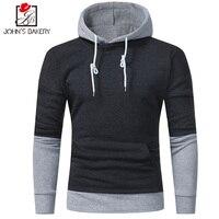 2018 Men S Sweatshirt Hoodies Hip Hop Hoodies Male Brand Hoodies Solid Color Stitching Men Slim