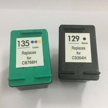 For HP 129 135 Ink Cartridges for Deskjet 5943 6943 6983 D4163 Photosmart 2575 D5163 8053 C4183 C4193 Officejet 6