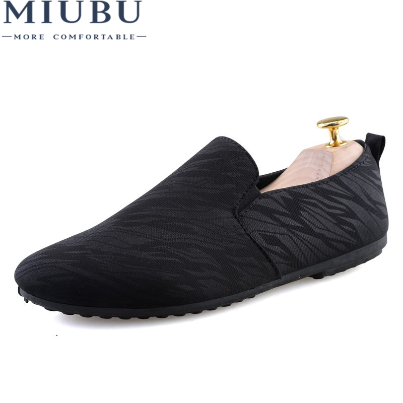 MIUIBU Canvas Men Shoes Loafers 2019 Fashion Brand Comfort Breathable Slip On Casual Autumn Flats