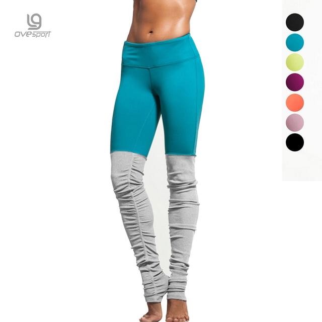 6 colors Women Sporting Fitness Elastic Rib Patchwork Pants Hign Elastic women Leggings Push Up Sexy S M L XL 4sizes