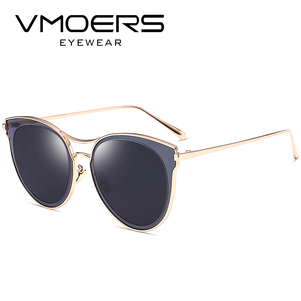 dfd960d1c3 VMOERS Aviator Cat Eye Sunglasses Women Luxury Designer Brand Eyewear Sun  Glasses For Women Blue Mirror New Shades Oculos Female-in Sunglasses from  Apparel ...