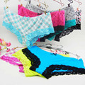 6PCS Women Cotton Panties Plus Size Woman Underwear Cotton Briefs Lace For Women Ladies More Colors