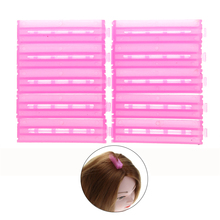 10pcs ABS Resin Plastic Hair Rollers Corrugated Perm Folder Fluffy Hair Maker Hair Curlers Holder Tools