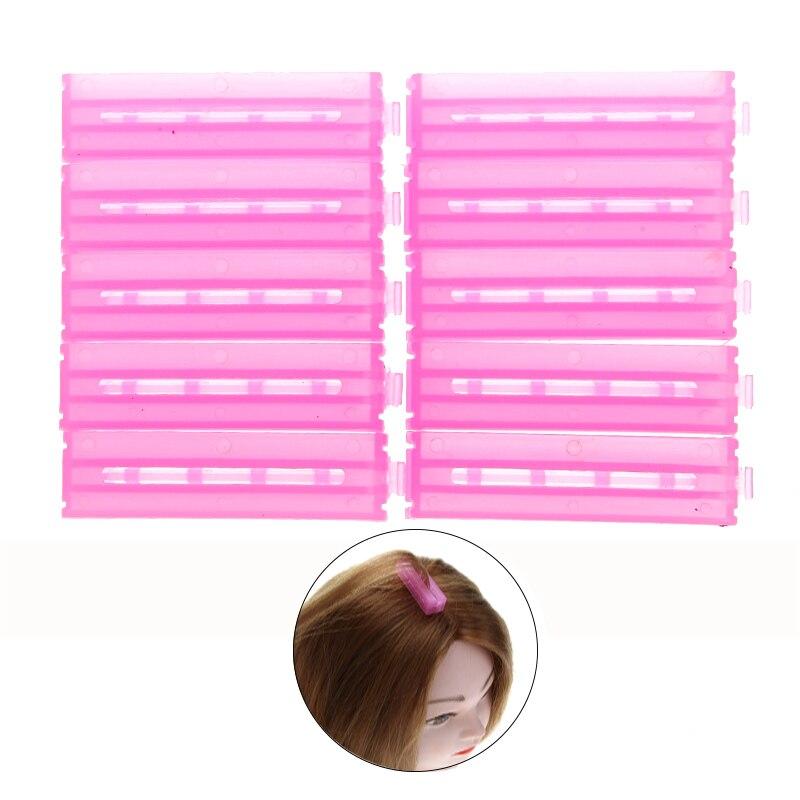 10pcs ABS Resin Plastic font b Hair b font Rollers Corrugated Perm Folder Fluffy font b