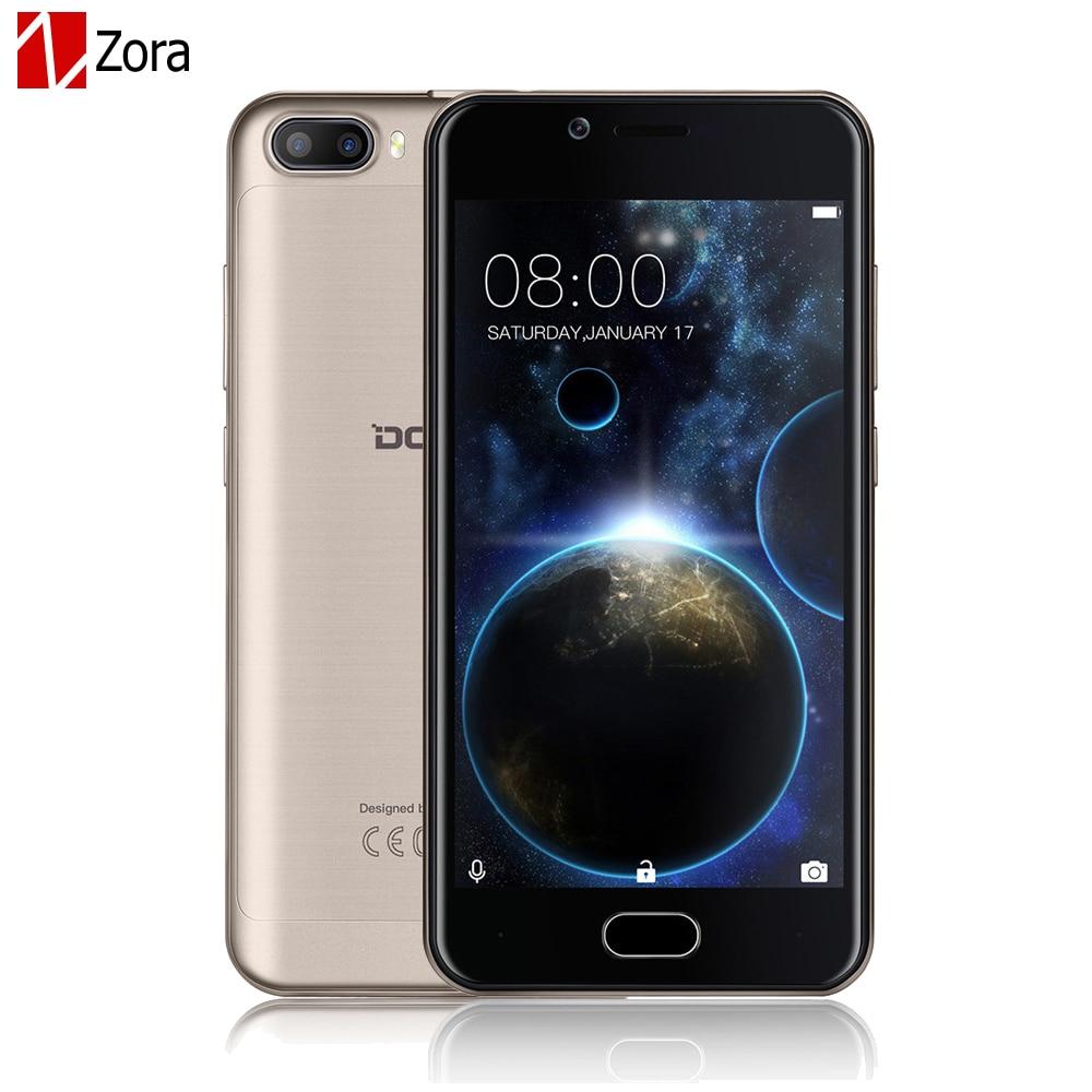 Цена за Doogee Стрелять 2 Двойная камера мобильный телефон 5.0 Дюймов HD IPS 2.5D MTK6580A Quad Core Android 7.0 Dual SIM 1 ГБ RAM + 8 ГБ ROM 3360 мАч GPS