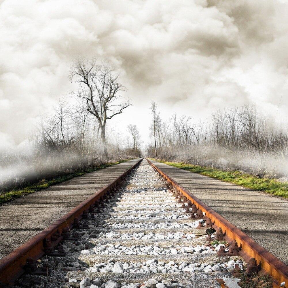 3x3m Vinyl Digital Photography Backdrops Props Photo Studio Background Railway NTG-001