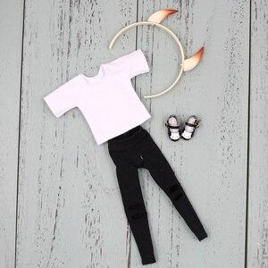 Image 5 - Lalki Blyth kombinacji czerwony mały diabeł z matową twarzą wspólne body ubrania buty diabeł róg zestaw ręczny AB jako prezent 1/6 BJD