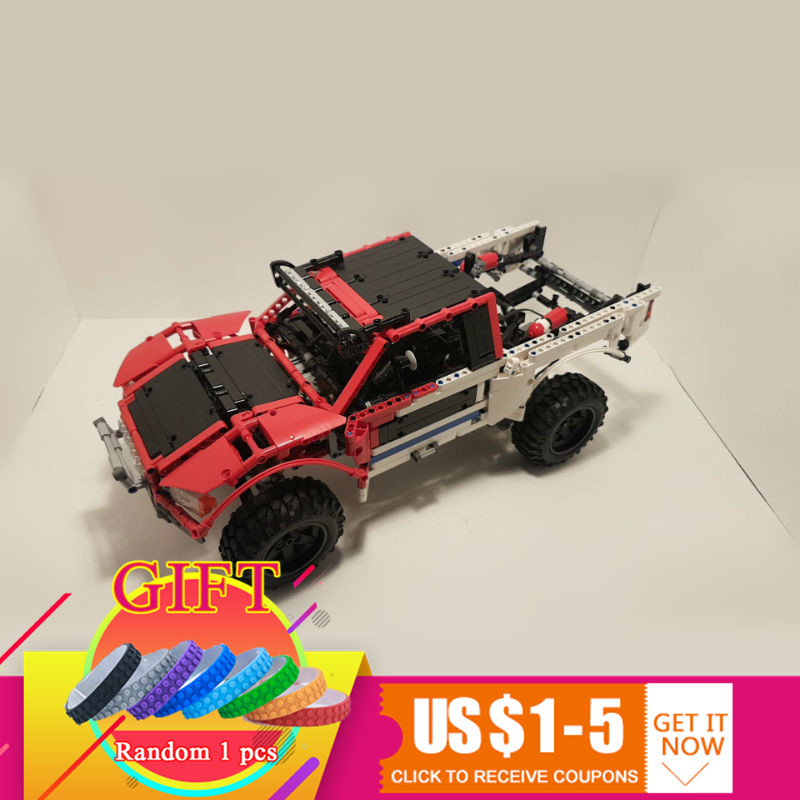 23013 2314Pcs Technical MOC Series SUV car Pickup truck bricks compatible with MOC-3662 model building blocks toys gift lepin 2 in 1 rc car compatible legoinglys radio technical vehicle green suv control blocks assembled blocks children toys gift