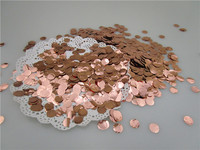 1cm 1kg/bag Round Metallic Foil Rose Gold Circle Confetti Throwing Baby Shower Wedding Anniversary Party Decorations