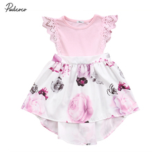 Cute Family Match Clothes Baby Sister Matching Outfit Lace Floral Patchwork Dress Little Sister Skirted Romper Kids Clothing