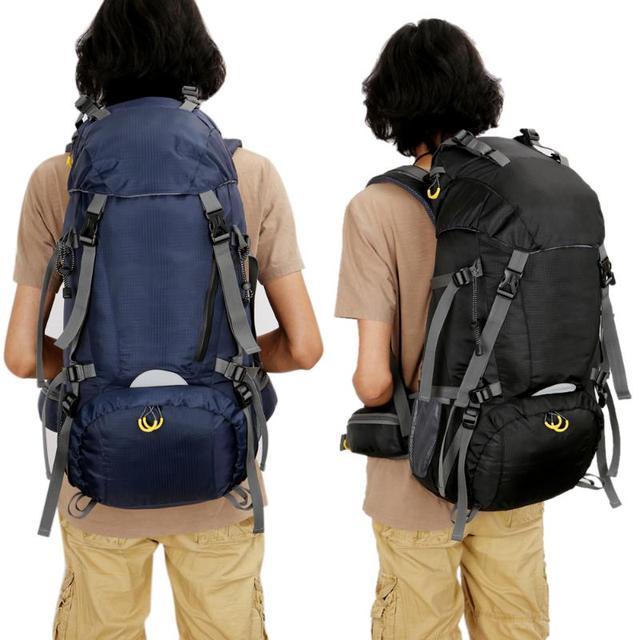 3760739871e0 US $35.99 28% OFF 50+10L Super Large Camping Rucksack Waterproof Multi  pocket Military Backpack Hiking Travel Bag Tactical Backpack + Rain Cover  -in ...