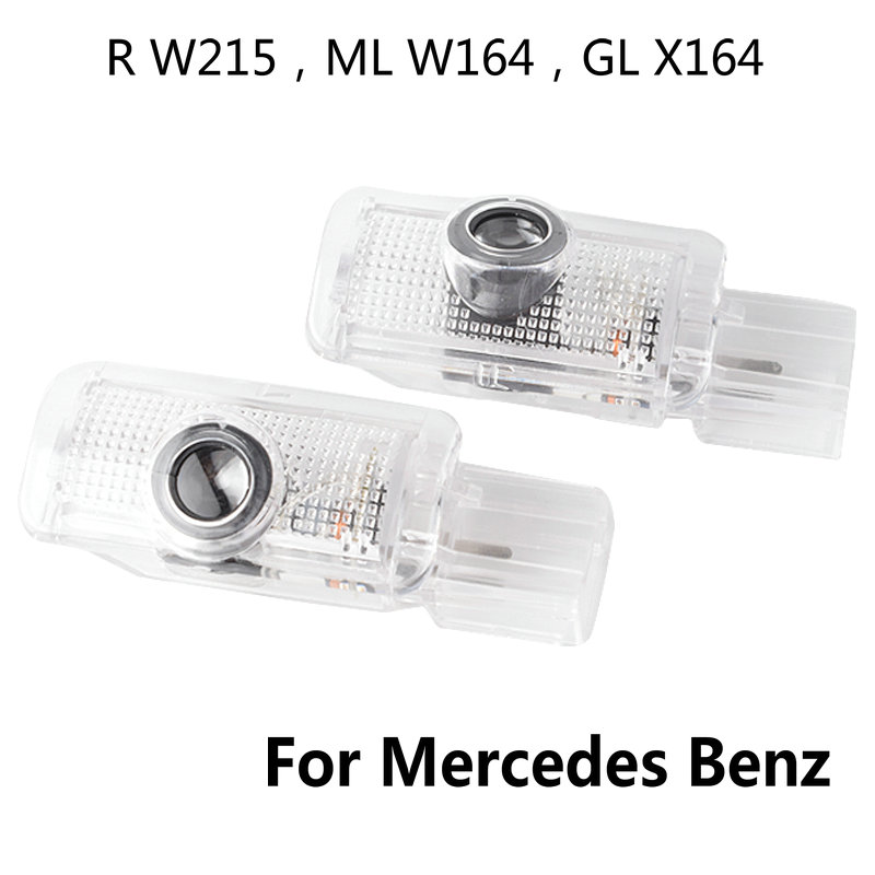 2X Car LED Door Welcome Light Logo Projector Laser Door Lamp For Mercedes Benz R W215 ML W164 GL X164 R300 R350 ML300 ML350 ML63 image