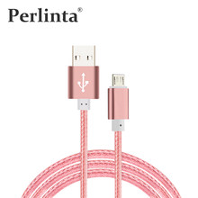 Perlinta Micro USB Cable,USB to Micro USB Data Sync Charing Cable,V8 Port Nylon Cable For Samsung Galaxy S7/Note 4/Note3 ...(China)