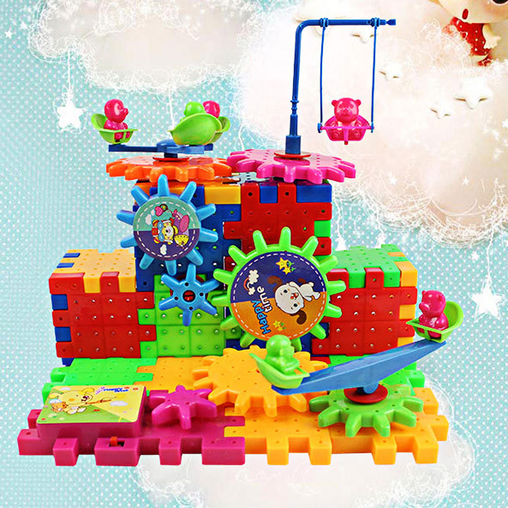 Electric Blocks Model Building Kit Educational Toys Variety Spelling Fun Plastic ABS Children DIY Flashing Toys