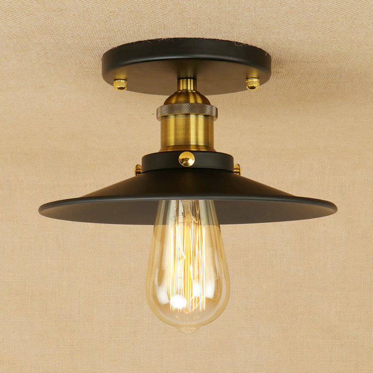 Iwhd-lustre de teto industrial, luminária estilo loft,