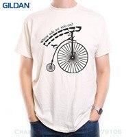 GILDAN Gedruckt Männer T-shirt Kleidung Old Skool Fußball-hooligans Die gefangene T-shirt Penny Farthing Wessen Seite Sind Sie Auf?