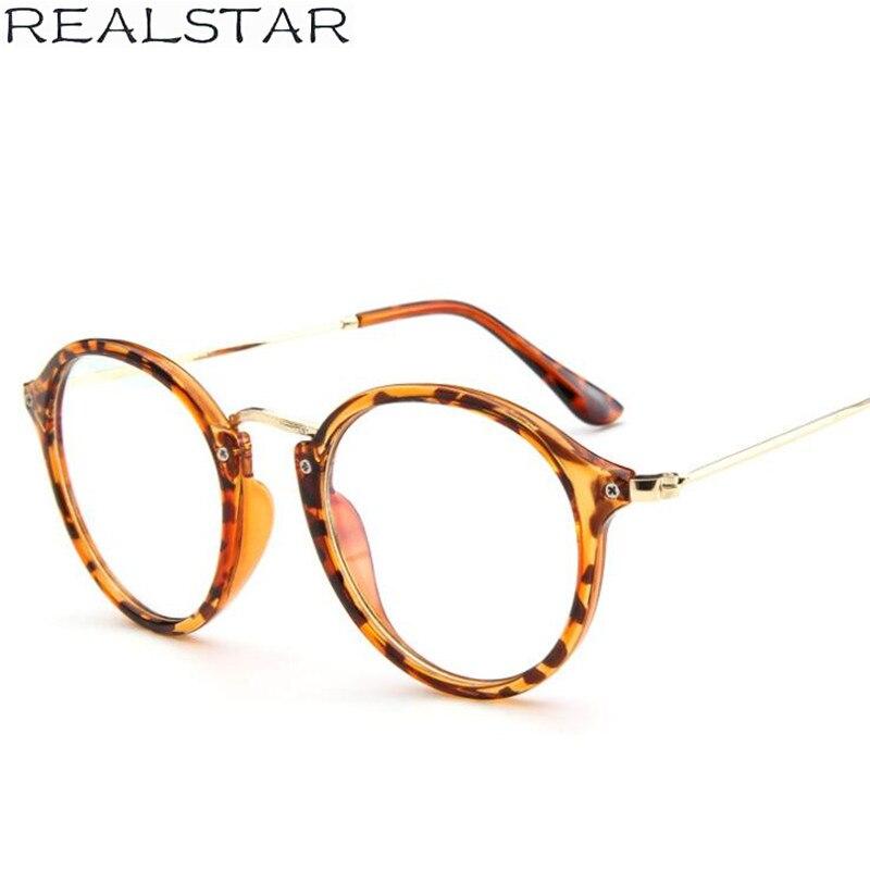 3c043712d2 REALSTAR Vintage Fashion Round Eyeglasses Frames Women Myopia Glasses  Optical Frame Womens Eyewear Computer Glasses Oculos S283-in Eyewear Frames  from ...