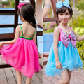 2017 летом новое поступление горячей шифон лук партия принцессы девушки платье новорожденных девочек одевать детей детская одежда vestidos де menina