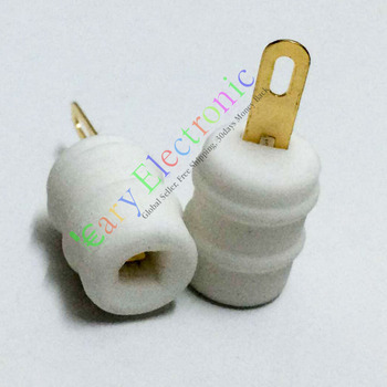 Wholesale and retail 50pc GOLD Ceramic Tube Anode Cap for FU29 FU32 829 829B 823 Audio Valve Amp DIY free shipping
