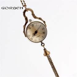 Малый Стекло кварцевые карманные часы римскими цифрами элегантных женщин подарки новые модные прозрачный карман свет часы с колокол P10