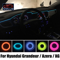 9 Meter EL Wire For Hyundai Grandeur / Azera / XG25 / XG30 / XG300 / XG350 / Flexible Neon Cold Light Console Decorative Strip