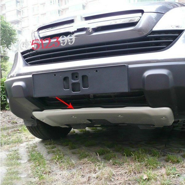 2PCS Aluminum alloy Front & Rear Bumper Protector Skid Plate Cover Trim For Honda CRV 2007 2008 2009 цена и фото
