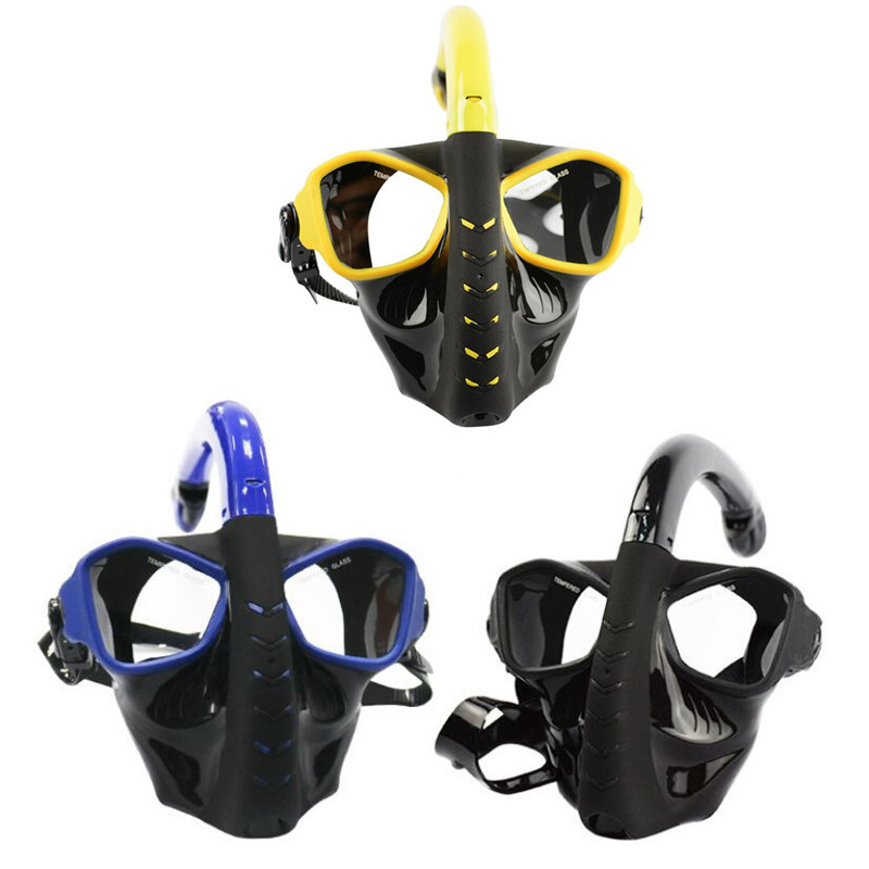 Underwater Scuba Full Dry Anti Fog Diving Mask Full Face Scuba Snorkel Diving Mask Snorkeling Mask Women Men Diving Equipment