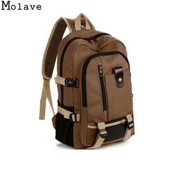 MOLAVE backpack mochilas women Vintage Travel Canvas Leather Backpack tigernu mochila mujer 2017 backpack DEC1