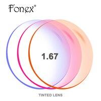 1.56 1.61 1.67 (-8.00 ~ + 8.00) Teñido Teñido CR-39 lentes de Resina de Prescripción Óptica Gafas de Lentes Miopía Hipermetropía gafas de Sol de espejo Lente