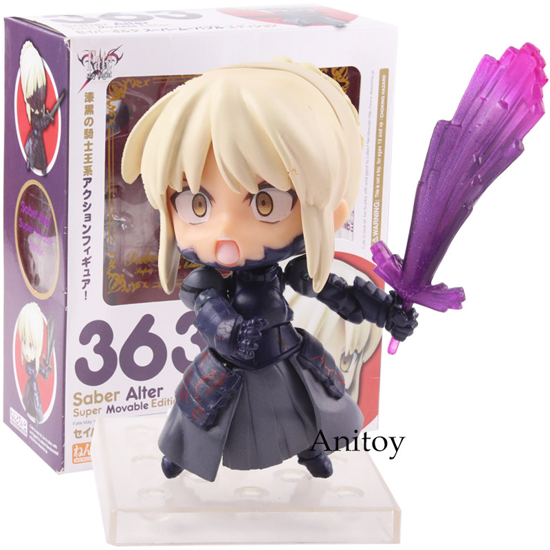 Anime Nendoroid 363 Fate Stay Night Saber Alter Figure Super Movable Edition PVC Action Figures Collectible Model Toy