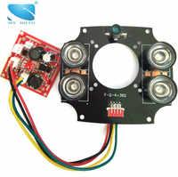 Infrared Light Board CCTV Infrared Light Board IR LED Array Board 4pcs 42mil Array IR LED For DAHUA CCTV Security IP Camera
