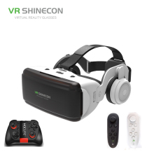 VR SHINECON BOX 5 Mini VR Glasses 3D G 06E Glasses Virtual Reality Glasses VR Headset For Google cardboard with headphone ugp u8 vr glasses 3d headset version imax virtual reality helmet 3d movie games with headphone 3d vr glasses optional controller
