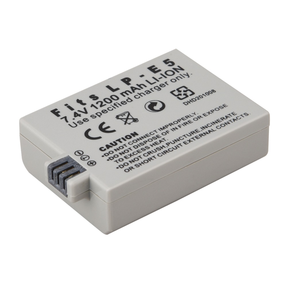 New 1pc 1200mAh 7.4V LP-E5 LPE5 LP E5 Rechargeable Camera Battery For Canon EOS 450D 500D 1000D Kiss X3 X2 Kiss F Rebel Xsi T1i