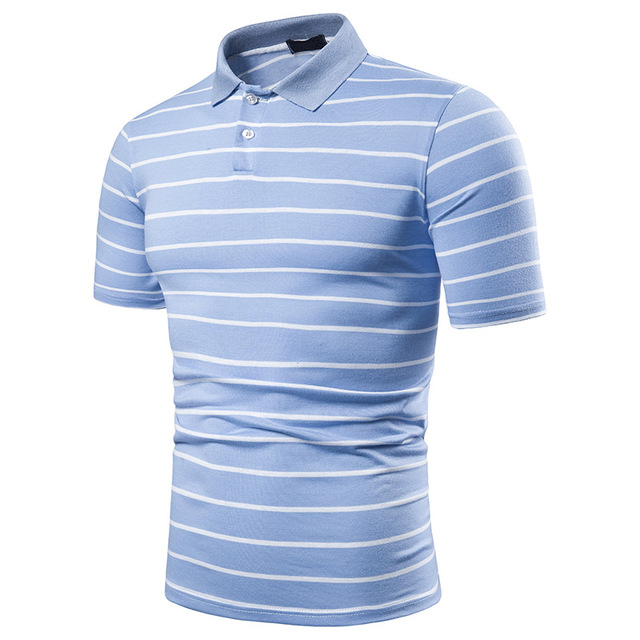 Men's short sleeve polo chest three stripe color matching fashion collocation cross-border lapels men short sleeve POLO 10