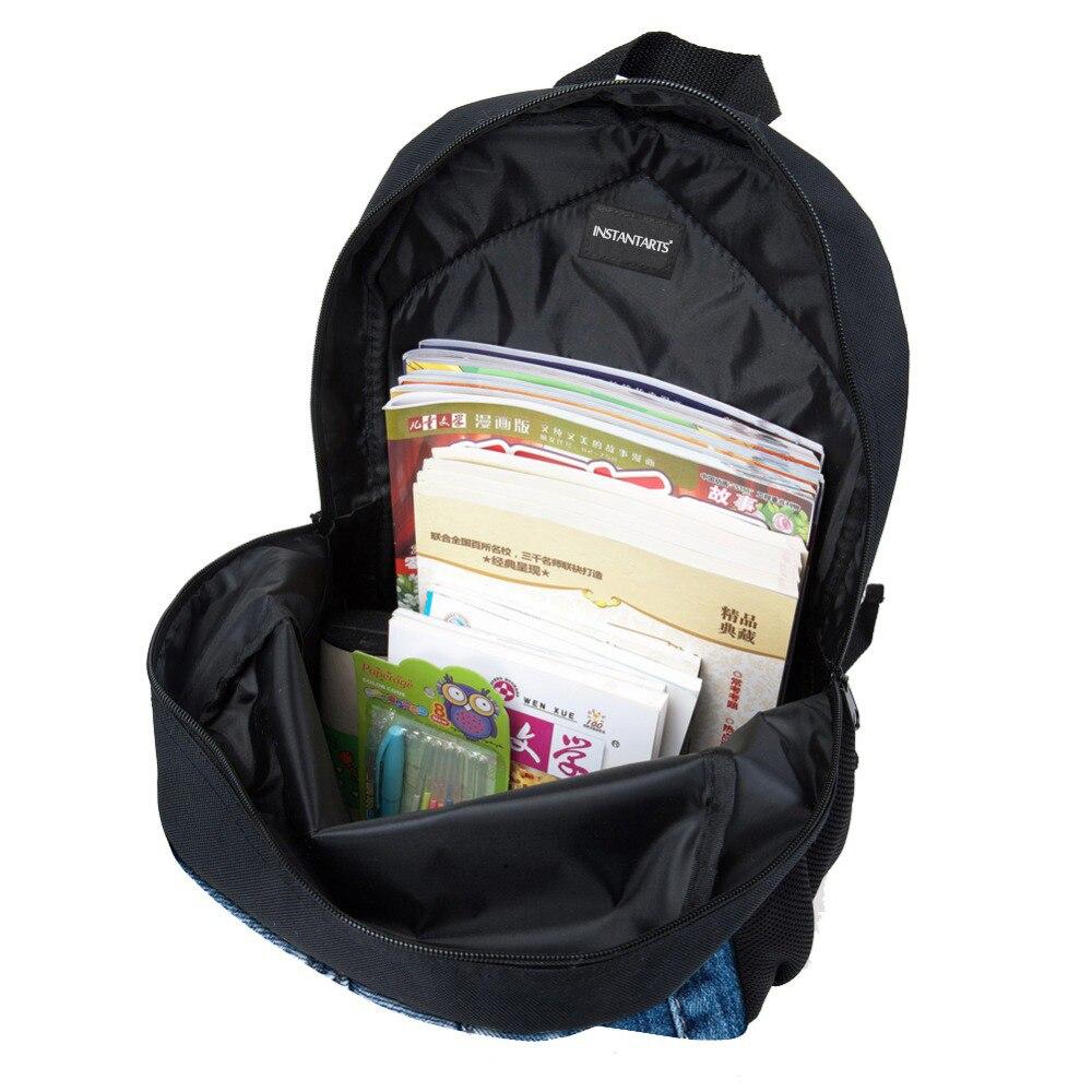 Sweet Cats School Bags For Girls 3D Printing Demin Pocket Knapsacks Students Kids Schoolbags Book Bag Shoulder Backbag
