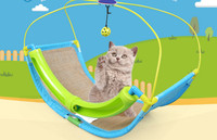 Free shipping pet cat toy bed scratch toy with ball swirling bed for cat toy