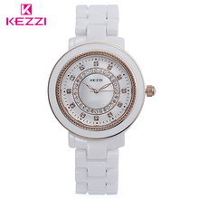 KEZZI Marque 809 Nouveau Mode et Occasionnel Femmes En Céramique Montres de Haute Qualité Strass Montres Mode Horloge Quartz Analogique Montre