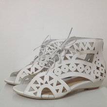 Cutouts Lace Sandals Wedges Bohemian Beach Shoes Women