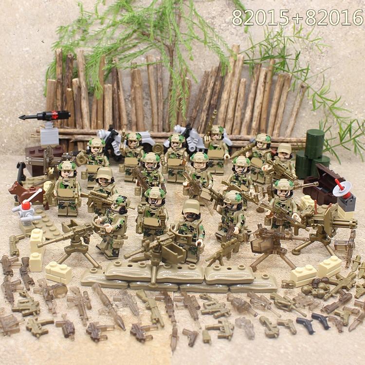Special Forces Military SWAT Armee Waffe Soldat Marine Corps Bausteine Figuren Spielzeug Kinder Geschenk Kompatibel Mit Lego