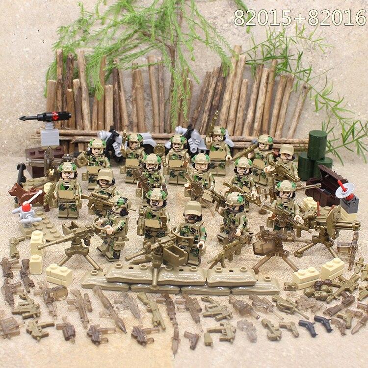 Army SWAT de Las Fuerzas especiales Militares Arma Soldado de Infantería de Marina Bloques de Construcción de Figuras de Juguete de Regalo de Los Niños Compatibles Con Lego