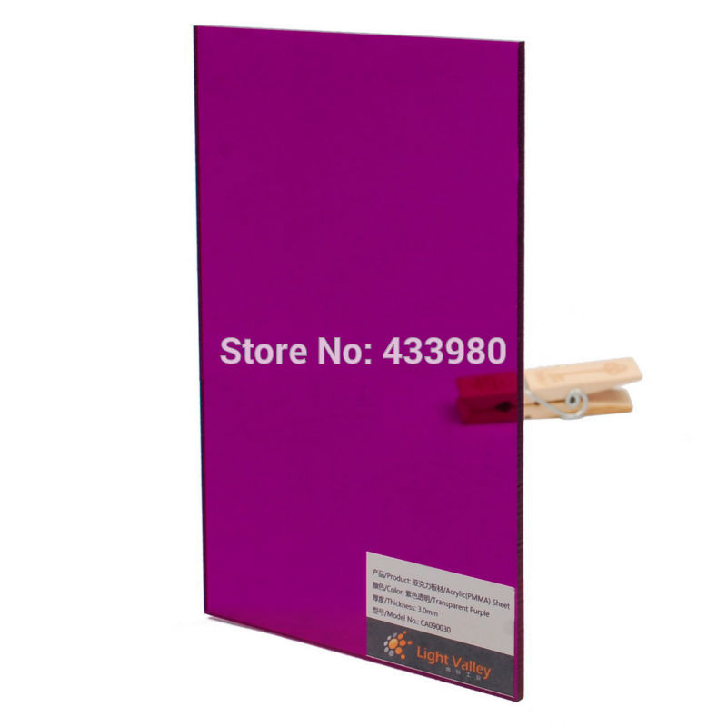 300mm x 200mm x 3 0mm Acrylic PMMA Tinted Color Sheets 6 pcs color