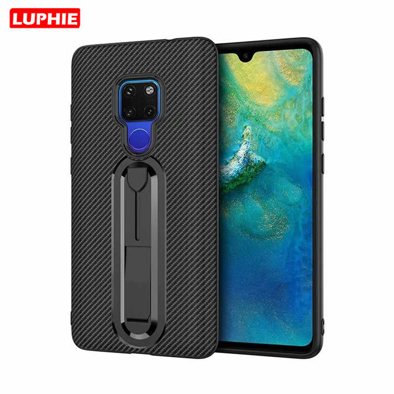 LUPHIE Soft Silicon Carbon Fiber Case for Huawei Mate 20 P20 Pro Mate 20Pro Mate 10 P10 Y9 2018 Shockproof Armor TPU Phone Cover
