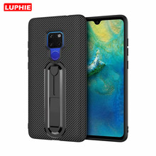LUPHIE Soft Silicon Carbon Fiber Case for Huawei Mate 20 P20 Pro 20Pro 10 P10 Y9 2018 Shockproof Armor TPU Phone Cover