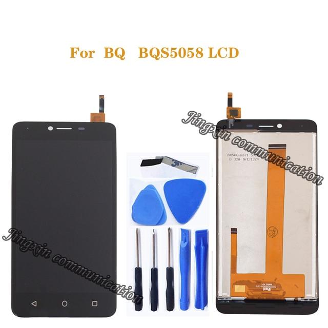 ل BQ BQS 5058 سترايك الطاقة سهلة LCD + شاشة اللمس الرقمية تحويل استبدال ل BQS 5058 BQ 5058 شاشة الكريستال السائل إصلاح أجزاء