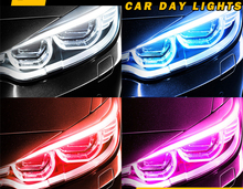 1 Pair 2 Pieces 30cm Car Led Guide Light Gradient Color Unremovable Non-destructive Universal Modification
