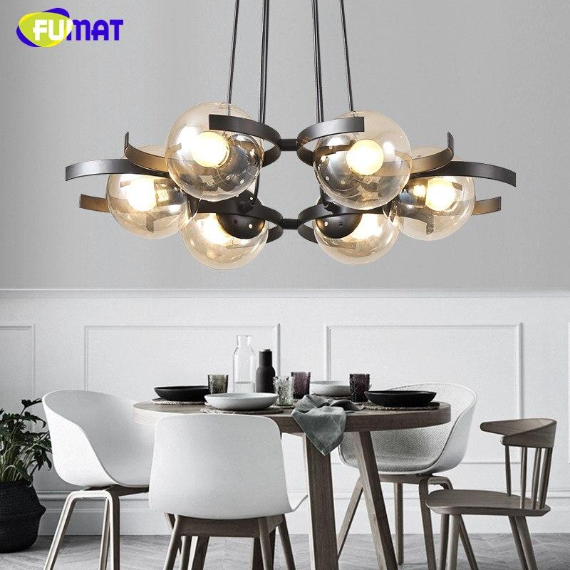 FUMAT Nordic Magic Beans Loft Modo Pendant Lights DNA Metal Modo Light Glass Shade Ball Bar LED Art Pendant Lamps Living Room