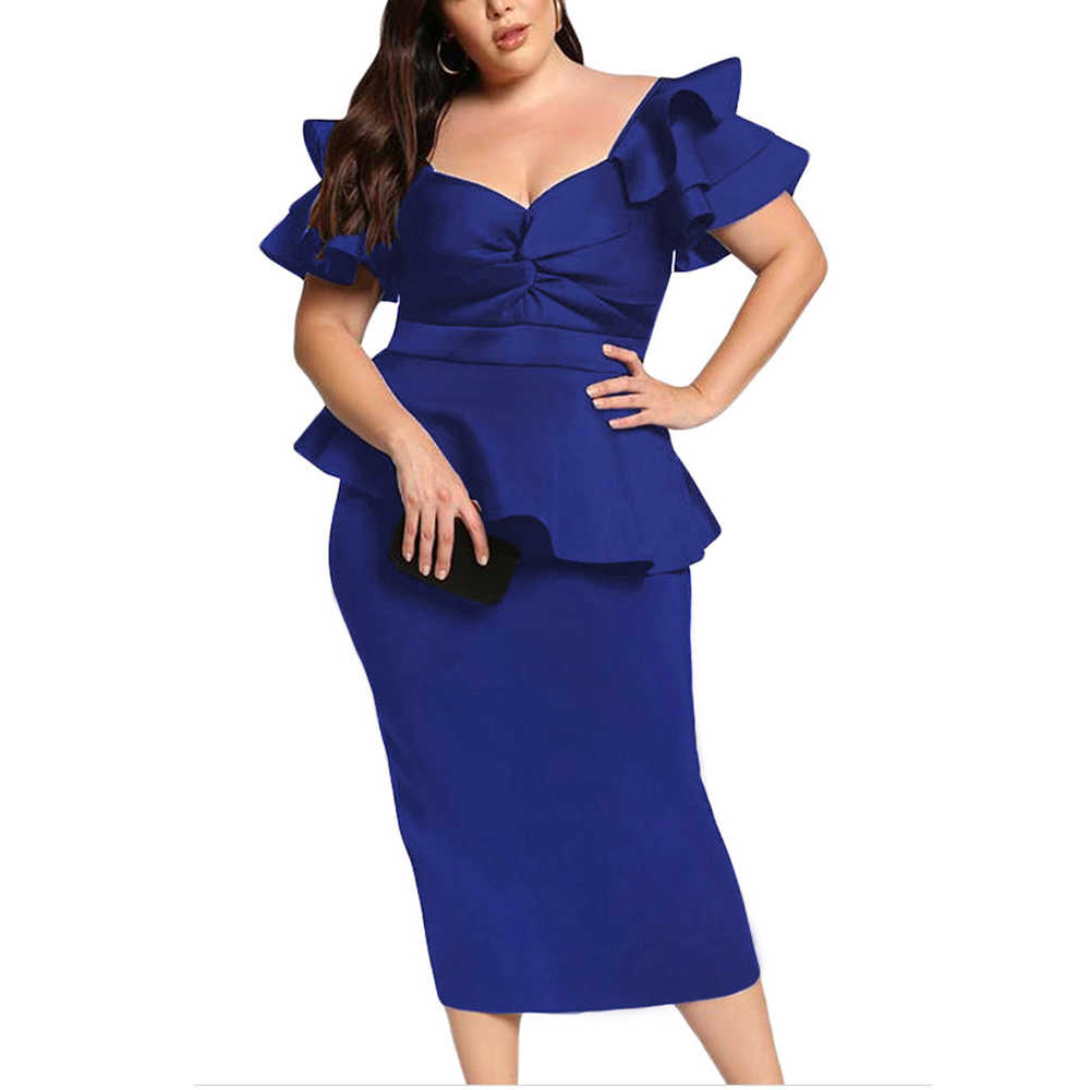 6b6e341d676ec Detail Feedback Questions about Ladies Plus Size Elegant Gown Women ...