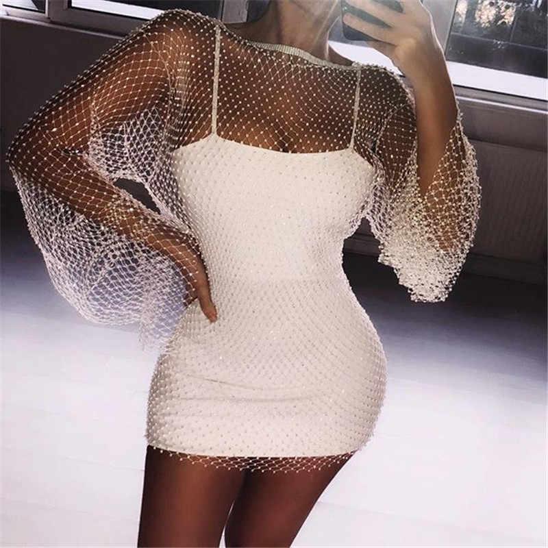 ba37242beda99 Vikionfly Diamond Beach Cover Up Women Glitter Reflective Short Swimwear  Bikini Cover-Ups Beach Dress